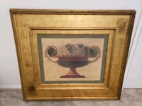 brown wooden framed painting of brown wooden horse Rockville, 20855