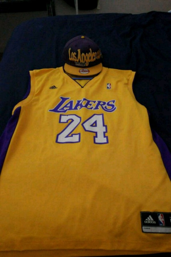 beb932522 Used L.A Lakers Kobe Bryant Jersey with the hat for sale in Omaha - letgo