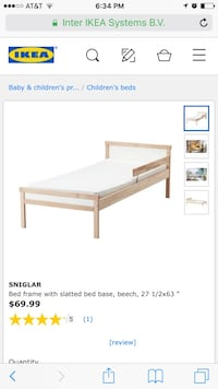 IKEA child's bed and mattress  Norfolk, 23518