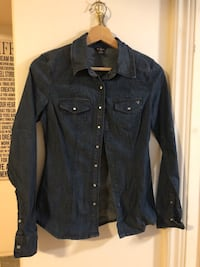 black button-up long-sleeved shirt Toronto, M2J 2H8
