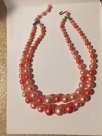red and silver beaded necklace San Jose, 95129