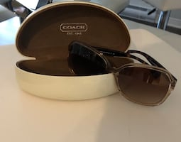 Genuine brown coach sunglasses
