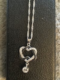 AAA Heart  Shaped drop with 10k white gold filled chain Oklahoma City, 73135