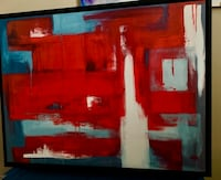 GORGEOUS Abstract painting in black wooden frame Edmonton, T5A 4M6