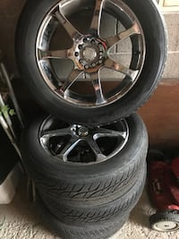 "17"" chrome wheels with tires Welland, L3B 2V4"