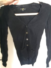 black button-up cardigan Winnipeg