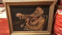 Canvas painting- Jewish violinist  Plymouth Meeting, 19462