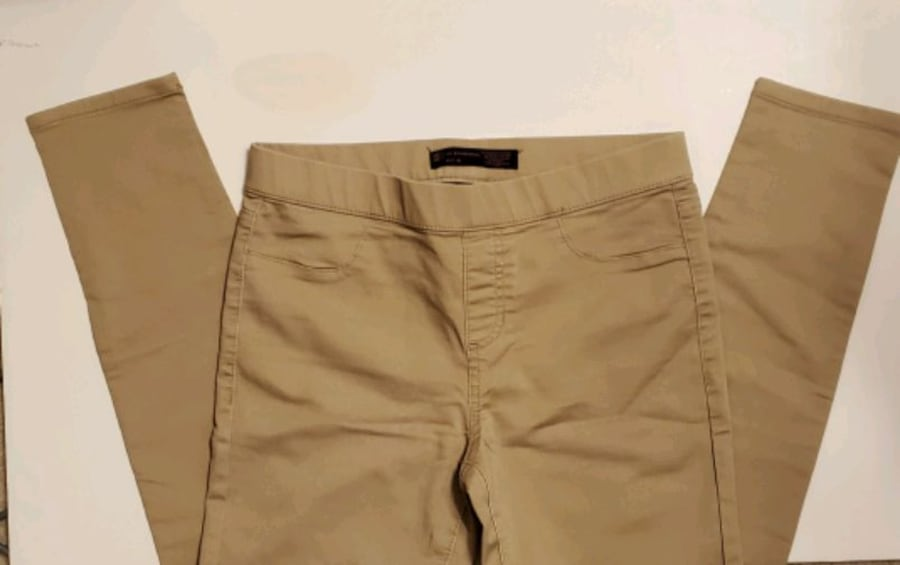 Womens tan jeggings skinny cropped ankle pants 15f03fd4-5dfb-4a10-bee3-fc8512db01b7