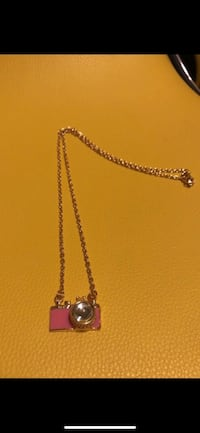 pink and gold-colored camera pendant with chain link necklace Stockton, 95206