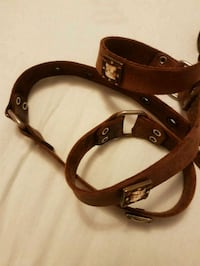 Real Leather brown belt.