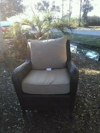 brown fabric padded sofa chair Mount Pleasant