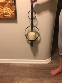 Pair of wall sconces with candles Toronto, M9A 2C9