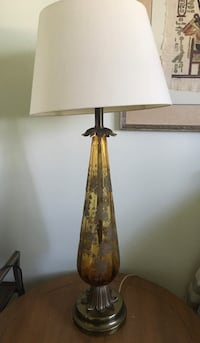 Vintage Etched Glass Lamps with shades