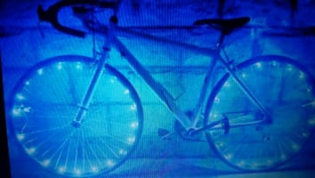 Bike lights - red, blue,  green, white, pink & multicolor
