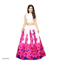 women's pink and white floral sleeveless dress Dehradun, 248001