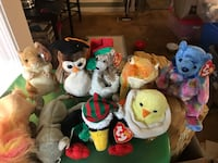 assorted animal plush toys lot Gainesville, 20155
