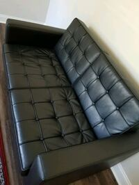 Tufted faux leather love seat with 2 chairs Huntersville, 28078