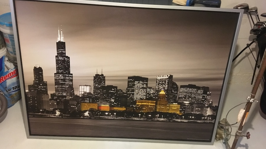 Used Chicago Skyline Wall Art (Ikea) In Jackson