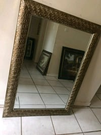 rectangular brown wooden framed mirror Mission, 78573