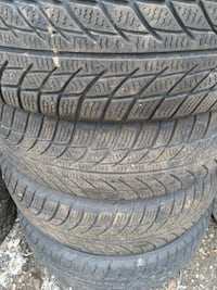 two black rubber car tires