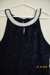 Brand new with tags, Size 16, beautiful blue color lace  dress with beaded neck line, Available location, Fredericton, NB AJAX
