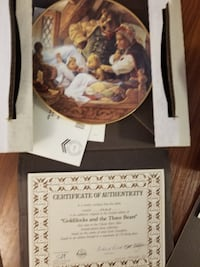 Collectible Aithentic Childrens Stories Plates w. Authentication Certificates null