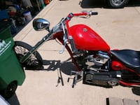 red and black custom bike West Des Moines, 50265