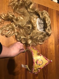 Princess Aurora blond wig and beaded tiara Falls Church, 22046