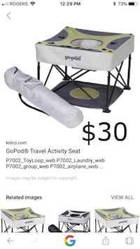 gray and black GoPod travel activity seat collage screenshot Ottawa, K1T 0J2