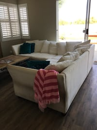 white and black sectional couch Irvine, 92618