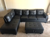 Black Leather Sectional Mesa, 85206