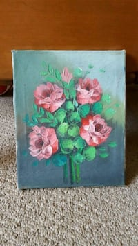 pink and green flower painting Port Coquitlam, V3B 3E1