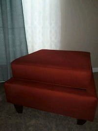Single Ottoman Red  New Orleans