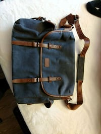 blue and brown leather backpack Ottawa, K1G 5Y1