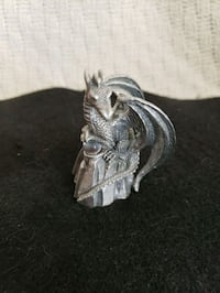 Like new, Pewter dragon with crystal ball. Manassas, 20109