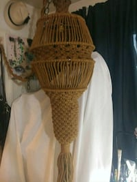 Vintage HUGE Bohemian Macrame Hanging Lamp Pittsburgh, 15211