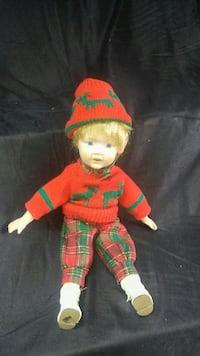 Vintage boy doll Christmas outfit