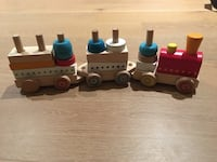 3 section toy wooden train   Coquitlam, V3J 3K6