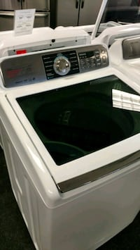 white and black Samsung top-load washing machine Acworth, 30102