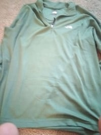 North face long sleeve green mens size large Evansville