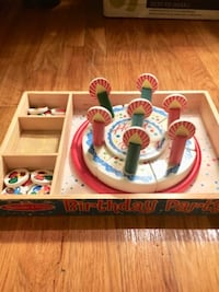 Melissa and Doug wooden birthday cake set null