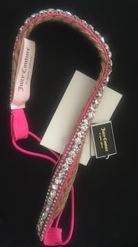 pink with diamond embellished Juicy Couture bracelet