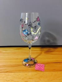 Hand Painted LuLu Diamonds Are A Girls Best Friend Wine Glass