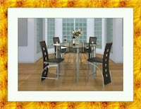 Counter height glass dining table 4 chairs Gaithersburg