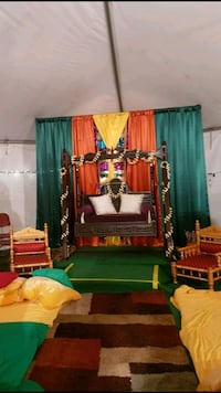 Staging for small occasion or rental dholki