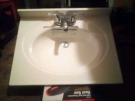 Sink with faucet