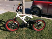 white and red bike with training wheels Whitby, L1R 0B6