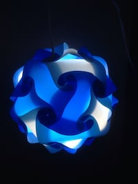 Blue and White Puzzle Lamp Light Fixture