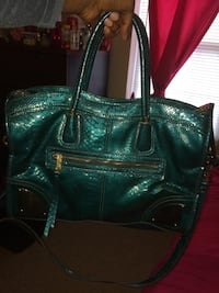 Teal Leather Purse