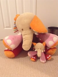 two orange and gray elephant plush toys Oshawa, L1K